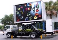 Noiseless Slim Outdoor Full Color Led Display Hd / Lifting Square Led Van Screens Wall