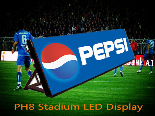 Outdoor Sport Stadium Perimeter P8 Advertising LED Screen Display