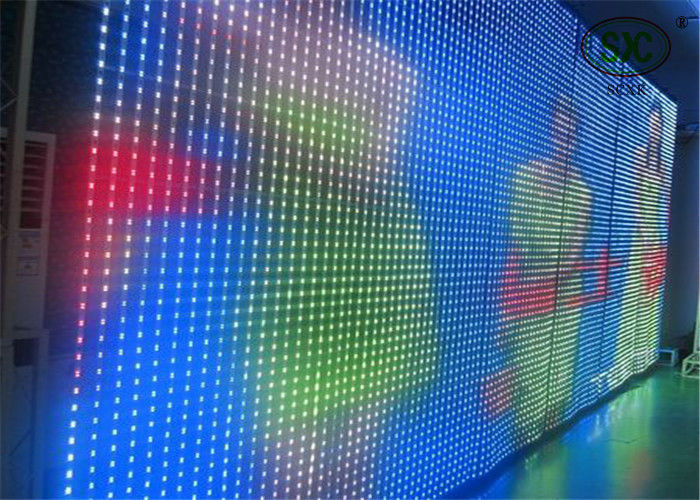 DC-5V  P37.5 SMD  Curtain LED Display , moving Picture big LED display board